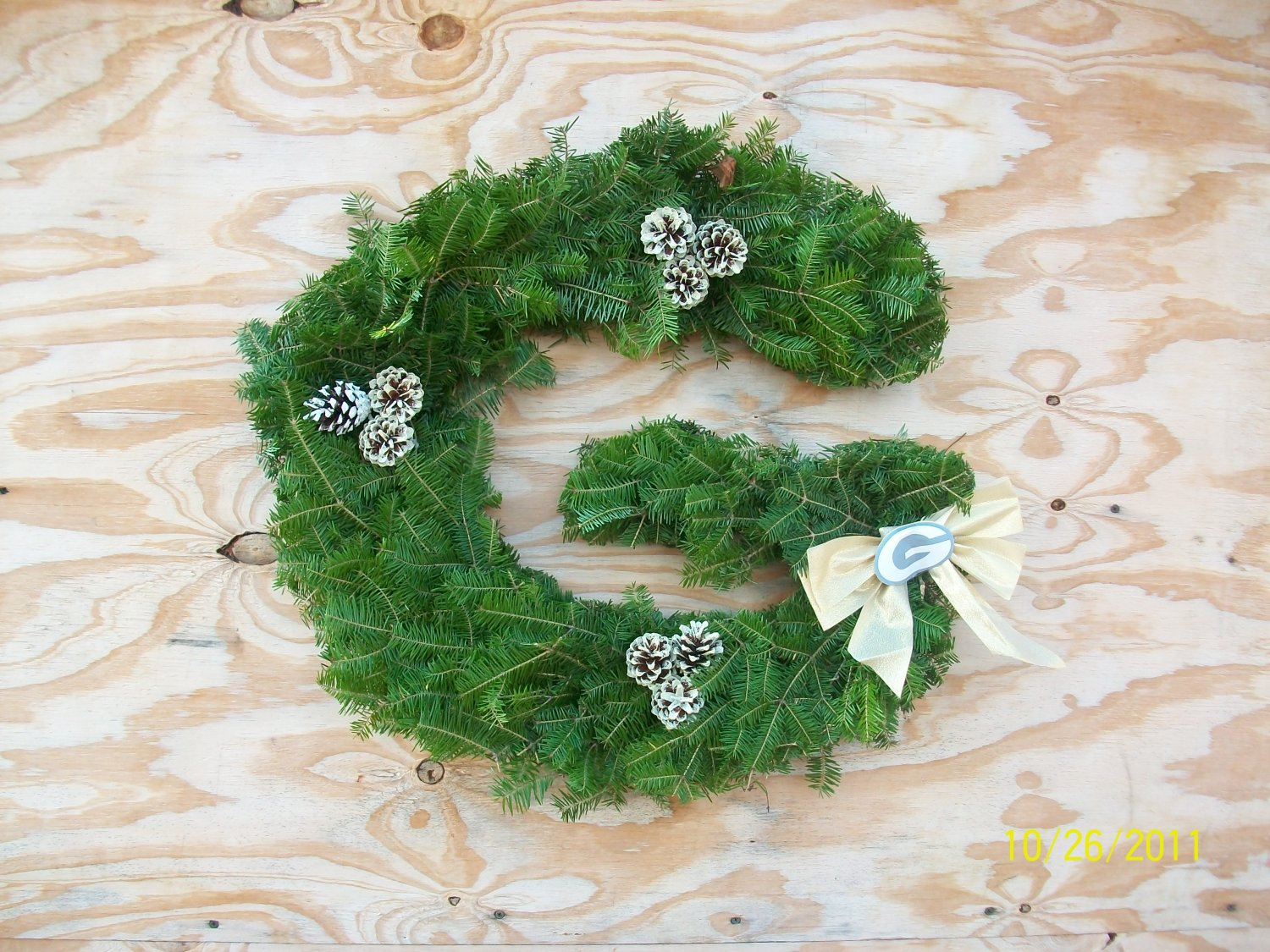 Green Bay Packers Wreath