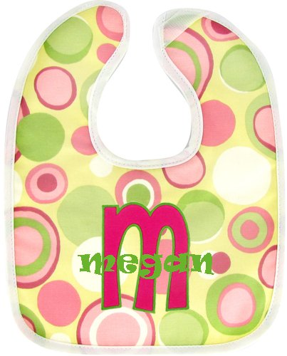 Personalized Matching Baby Bib/Burp Set (LETTER APPLIQUE)