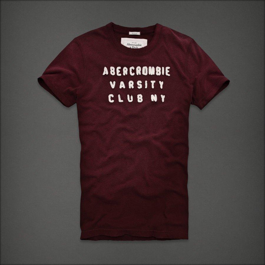 New Abercrombie Mens Big Slide t shirt burgundy XXL
