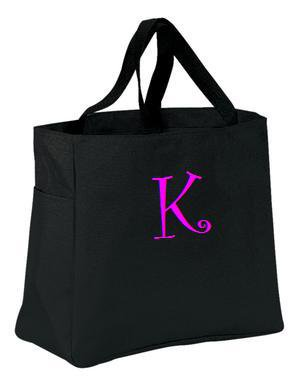 Personalized Tote Monogrammed / Embroidered Bridesmaid Gift Weeding Cheer Dance Teacher Baby Bag
