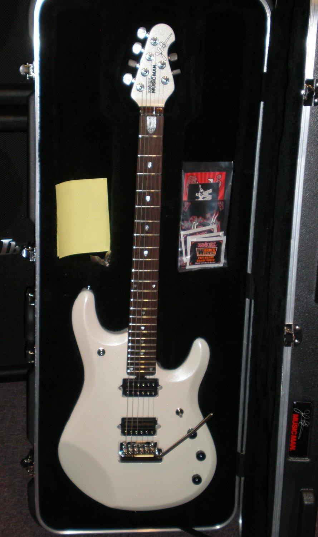 music man john petrucci jp6 6 string guitar pearl white. Black Bedroom Furniture Sets. Home Design Ideas