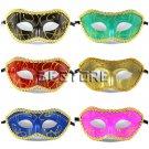 6Pcs Masquerade/Christmas/Halloween/Dance Mask 12-colors