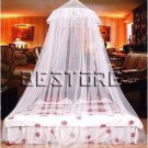 55 x 200 x 900cm Elegant Lace Bed Canopy Mosquito Net White