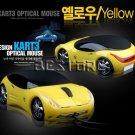 Car Shaped USB Optical Mouse - Yellow