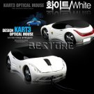 USB 2.0 Car Shaped 3D Optical Mouse for Laptop White