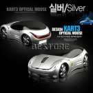 Silver Car Shaped USB Optical Mouse for PC Laptop