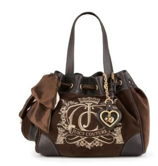 New Juicy Couture Daydreamer Day Dreamer Handbag Purse coffee 149#