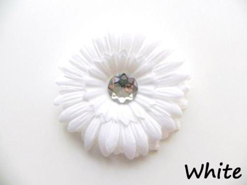 White daisy hairclip
