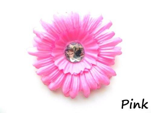 Pink daisy hairclip