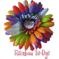 Tye dye daisy hairckip