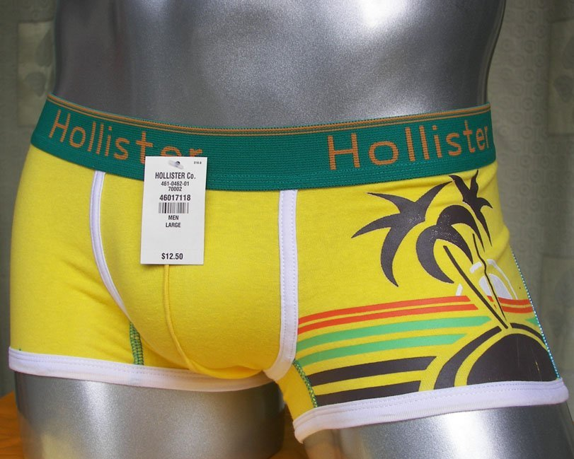 HO118 HOli HOT SEXY MENS BOXER BRIEFS CONTOURED POUCH LIGHT YELLOW