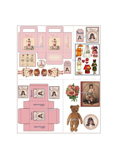 Doll Collage Sheet DC1