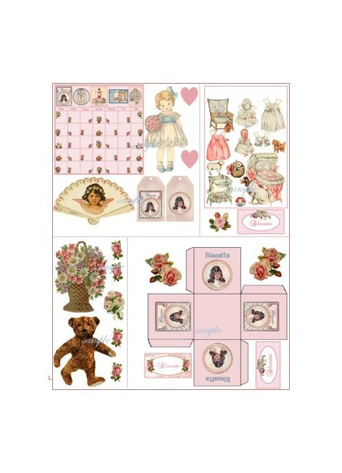 Doll Collage Sheet DC3