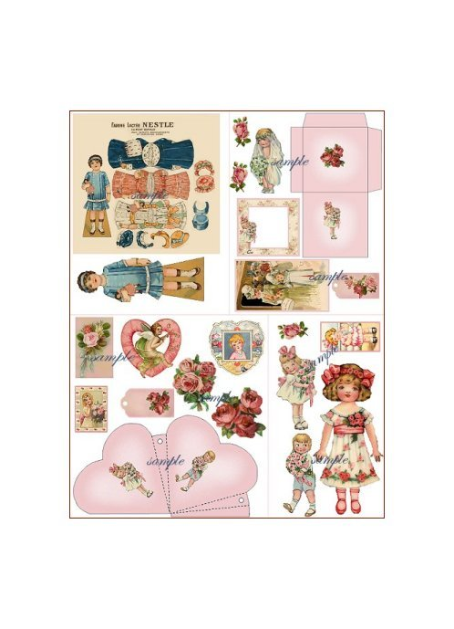 Doll Collage Sheet DC9