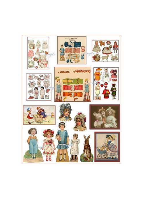 Doll Collage Sheet DC13