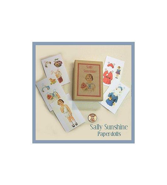 Vintage Style  Mini Paper Dolls & Box.PD31