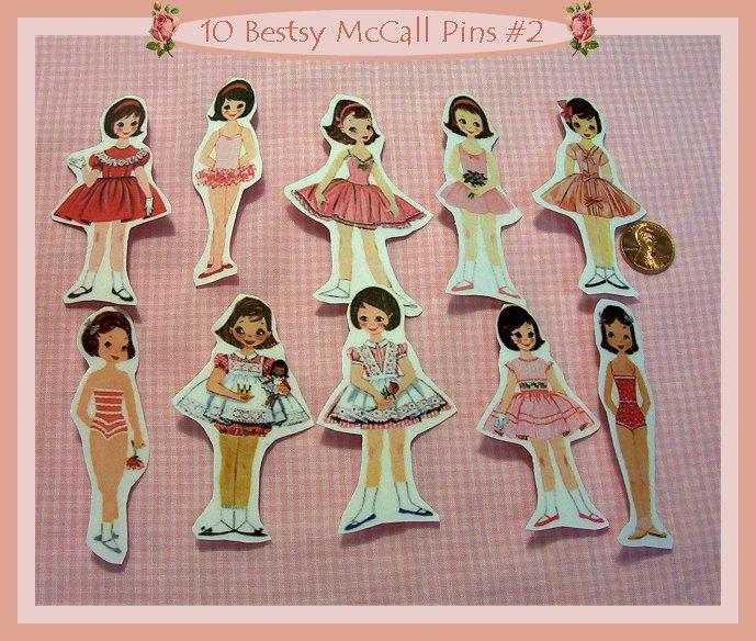 10 Mini Betsy McCall Pins P2