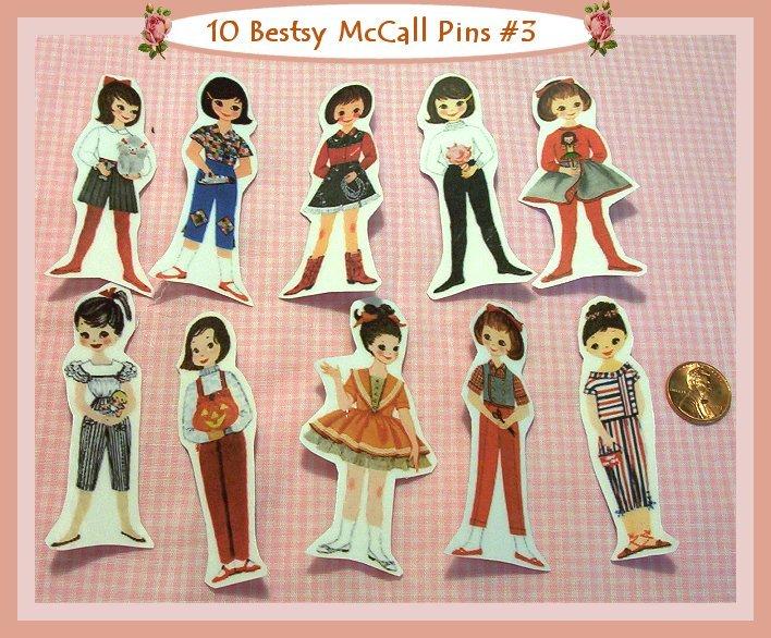10 Mini Betsy McCall Pins P3