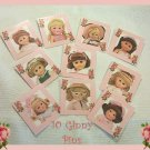"10 Mini ""Ginny"" Doll  Pins P15 Great Doll Favors  Tea Party Favors"