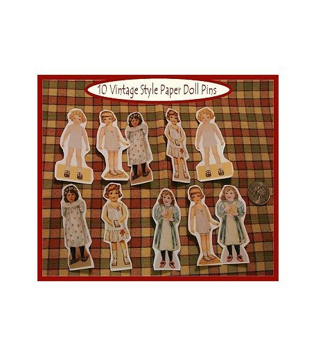 10 Mini Patsy Doll Pins P6
