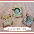 10 Mini China Doll  Pins P9