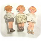 3 Vintage Style Paperdoll Thread/Ribbon/Lace Keeper A1