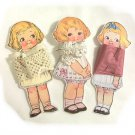 3 Vintage Style Paperdoll Thread/Ribbon/L​ace Keeper A3
