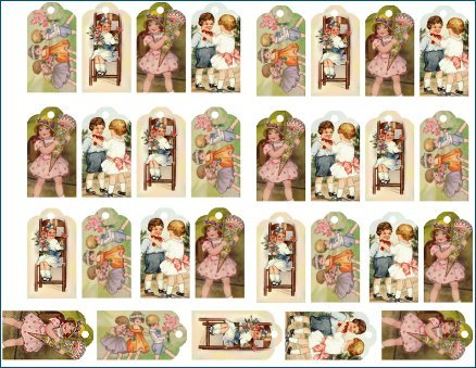 Doll Tag Sheet #21 Tags for your dolls 29 Mini Tags