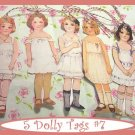 Vintage Style Paper Doll Tag Set Vintage Retro Style 5 Pc #3