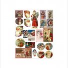 "Vintage Christmas Sticker Sheet Uncut 8.5x11"" #S70"