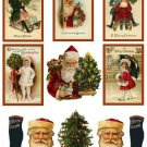 """Vintage Inspired Christmas Stickers #S137 suze  8.5x11"""""""