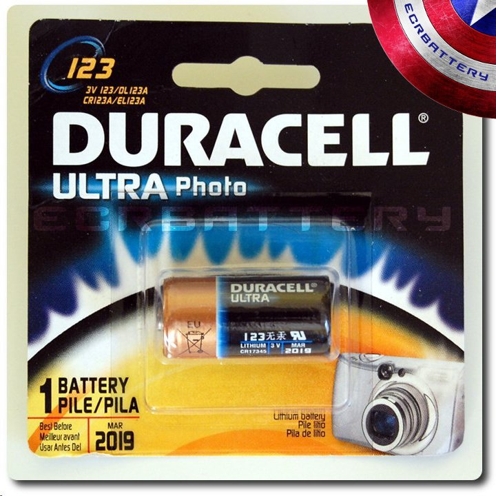 1 Pack - Duracell Ultra CR123A Photo Lithium 3V Battery