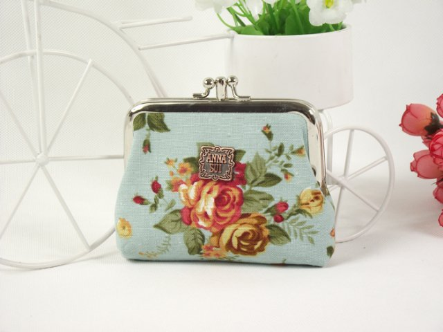 NEW ANNASUI Vintage FLORAL 2pockets COIN PURSE MINI WALLET 9 Colors Holiday gift