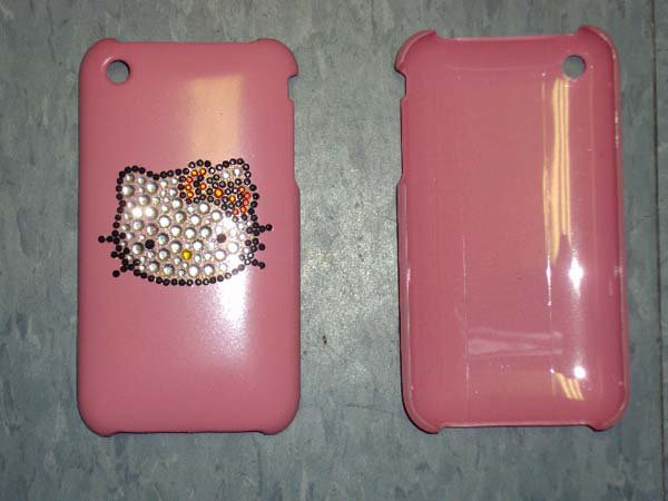 NEW HELLO KITTY PINK CRYSTAL IPHONE CASE COVER CLIP Cell phone holder Nice gift