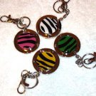 New Foldable Zebra Print Purse Hook bag Hanger & keychain 4pcs/set Holiday Gift