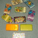 NEW PVC MULTI COLOR PATHORN PRINT CLUTCH FLAT WALLET BILLFOLD CUTE HOLIDAY GIFT