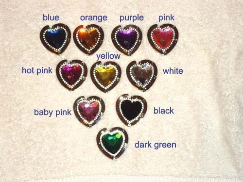 NEW Foldable Color Crystal & Rhinestone Heart Shape Bag Hanger Purse Hook gift