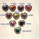 NEW Foldable Color Crystal & Rhinestone Heart Shape Bag Hanger Purse Hook gift