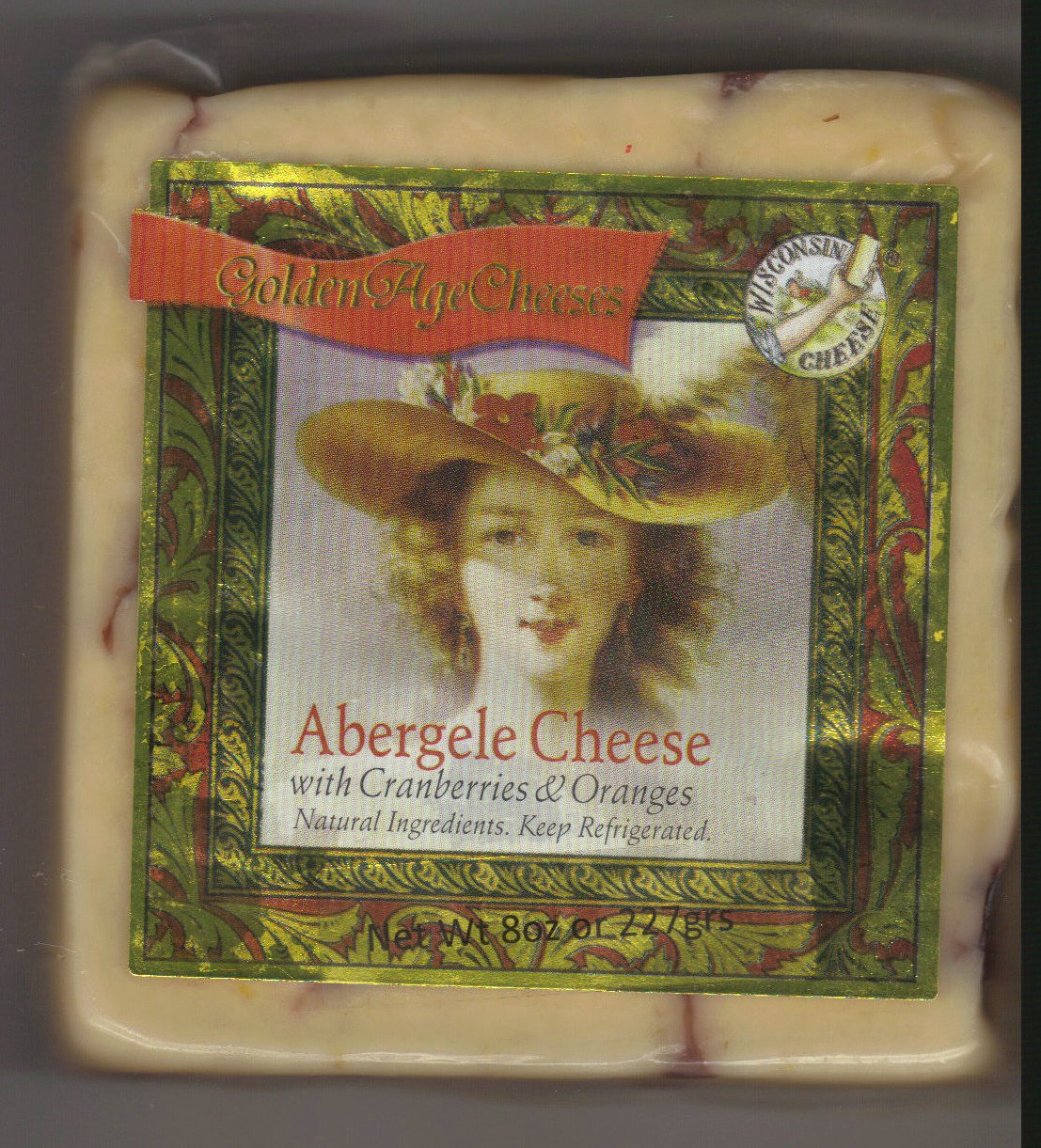 Golden Age Cheeses Cranberries & Oranges 2lbs Real Wisconsin Cheese
