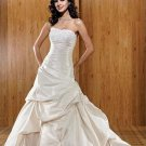 white/ivory wedding dresses BRIDAL GOWN satin