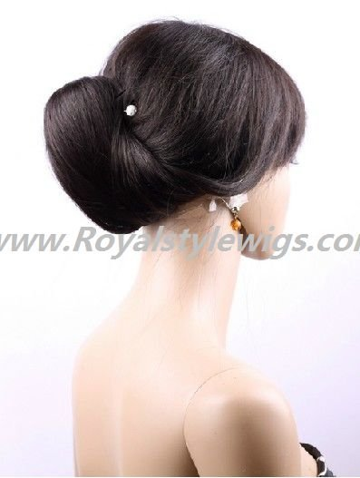 """16"""" remy hair full lace wigs silky straight can worn ponytail"""
