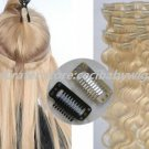 40cm 70g*2 sets_ CLIP IN ON HUMAN HAIR EXTENSIONS