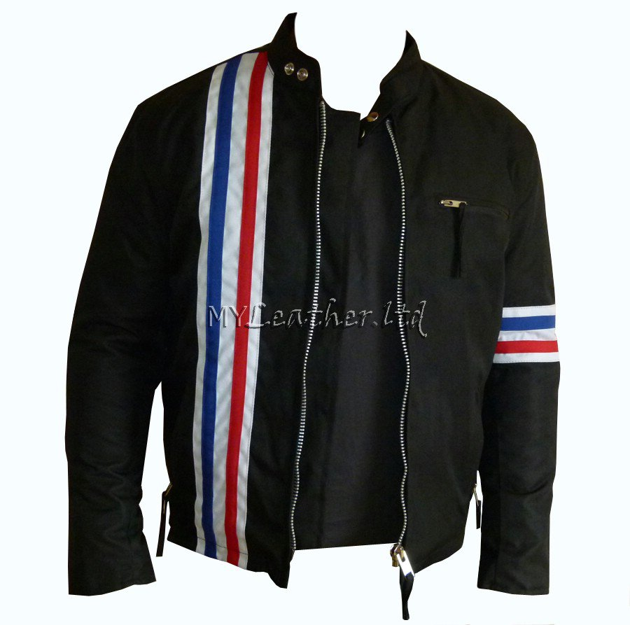 Easy Rider Striped Textile Motorcycle Jacket