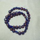 Blue and Red Coin Beads