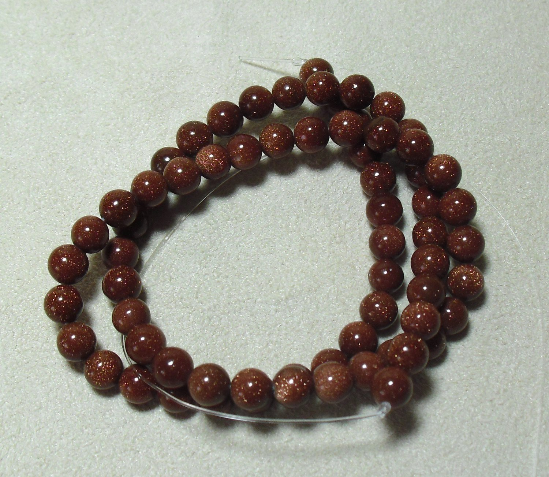Brown Goldstone Beads