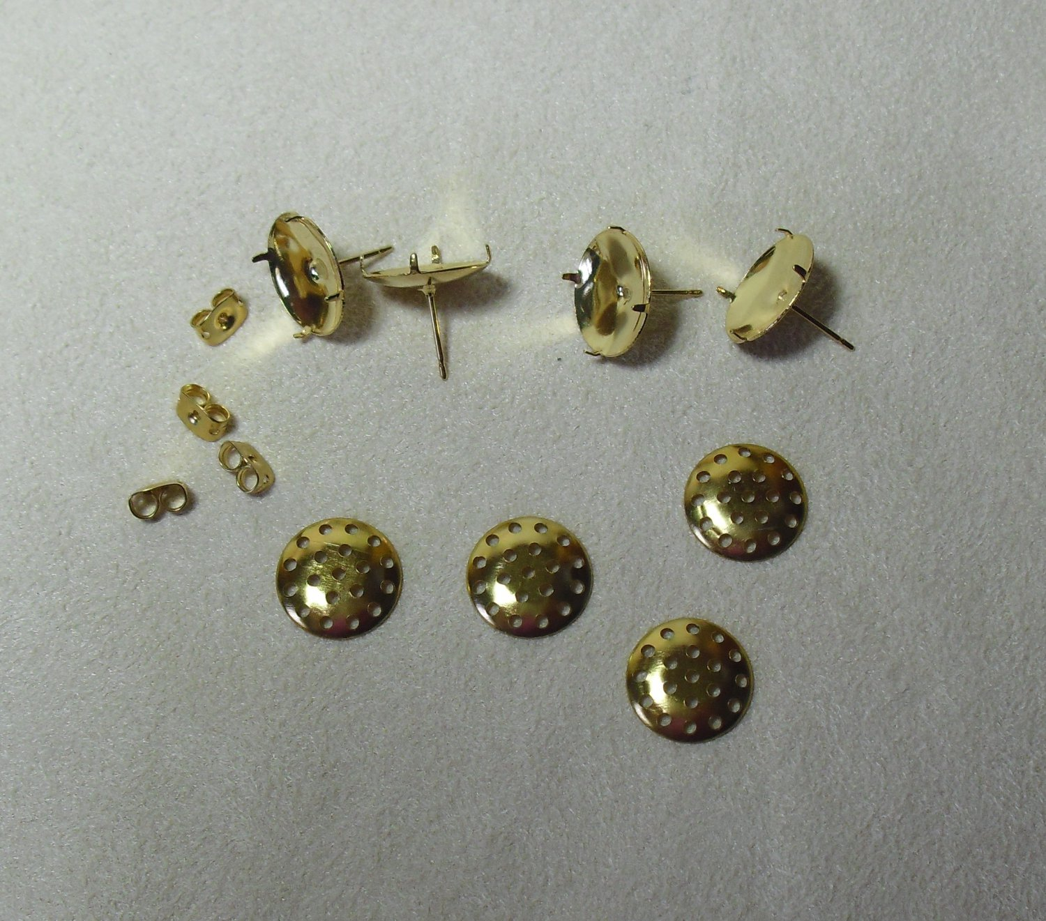 Gold-Plated Earrings Findings