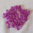 Purple Crackle Beads