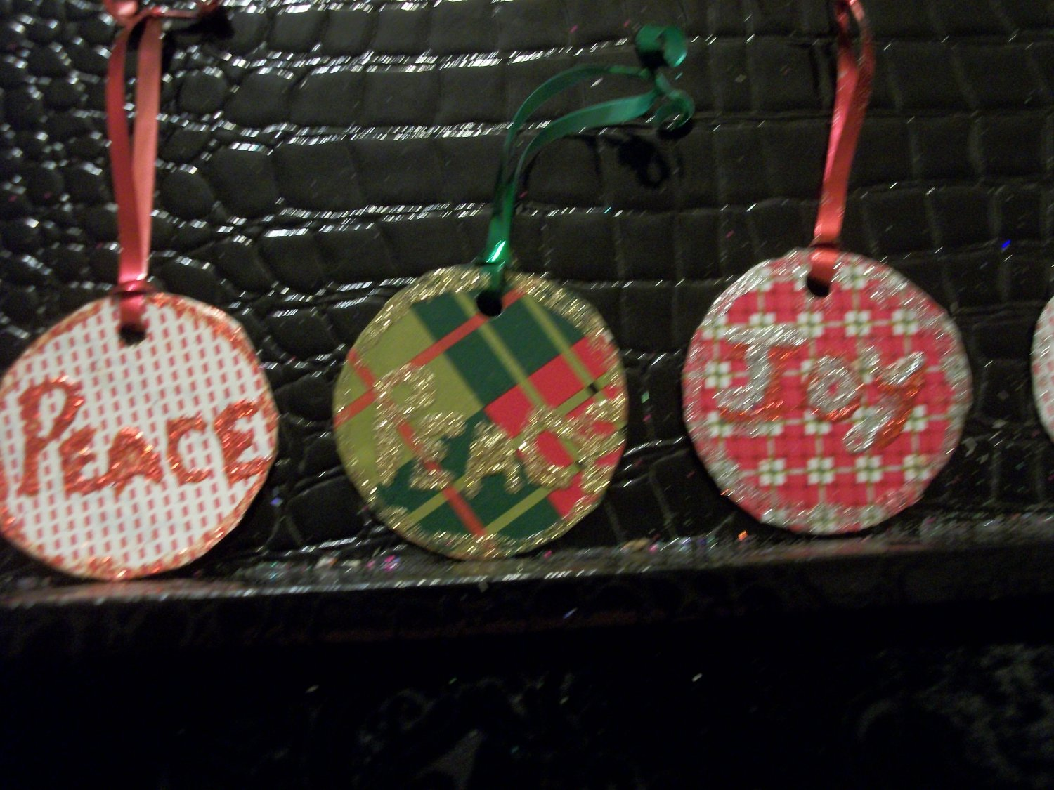 Peace and Joy Ornaments