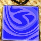 Blue Swirl Glass Pendant