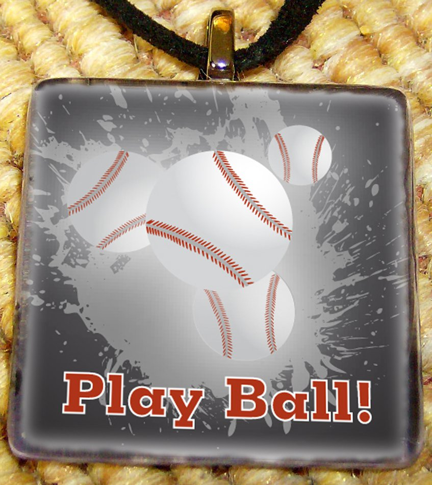 Play Ball Glass Pendant